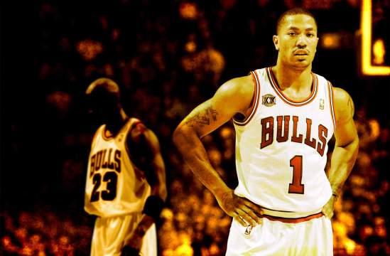 Michael-Jordan-and-Derrick-Rose